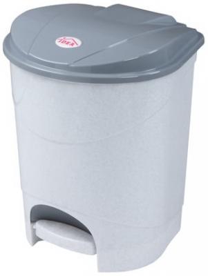 Ведро-контейнер 11 л, с крышкой и педалью, для мусора, 33х20х27 см, серое, IDEA, М2891 контейнер для мусора полимербыт артлайн 8 л с педалью
