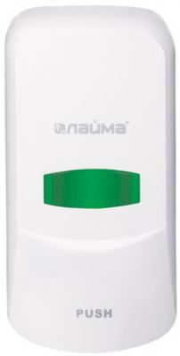 Диспенсер для жидкого мыла ЛАЙМА PROFESSIONAL, наливной, 0,6 л, белый, ABS-пластик, 601423 диспенсер для жидкого мыла лайма professional 0 38 л