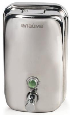 Диспенсер для жидкого мыла ЛАЙМА (гарантия 12 месяцев), 1 л, нержавеющая сталь, зеркальный, 601796 диспенсер для жидкого мыла лайма professional 0 38 л