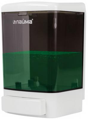 Диспенсер для жидкого мыла ЛАЙМА, наливной, 1 л, ABS, белый (тонированный), 603920 диспенсер для жидкого мыла лайма professional 0 38 л