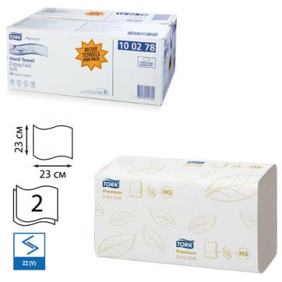 Полотенца бумажные Tork Premium 2-ух слойная 200 шт комплект 15 шт 100278