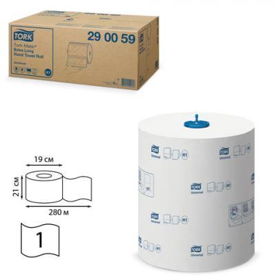 Полотенца бумажные рулонные TORK (Система H1) Matic, комплект 6 шт., Universal, 280 м, белые, 290059 полотенца бумажные рулонные tork система h13 комплект 6 шт 143 м 2 х слойные белые 471110