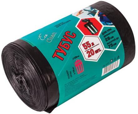 Фото - Мешки для мусора 55 л, черные, в рулоне 20 шт., ПВД, 25 мкм, 45х100 см, для урн, d - 28 см, h - 76 см, КОНЦЕПЦИЯ БЫТА Tubus, 3279 мешки для урн черные в рулоне 30 шт 12 л 32х55 см диаметр 20 см высота 26 см кб tubus 3255