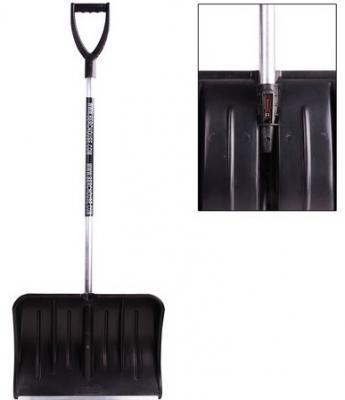 Лопата снегоуборочная BERCHOUSE, пластик, 54х37 см, высота 130 см, с алюминиевым черенком и наконечником, №13
