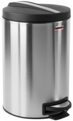 Ведро-контейнер для мусора (урна) с педалью ЛАЙМА Modern, 12 л, матовое, нержавеющая сталь, со съемным внутренним ведром, 232264 урна для мусора primanova yakut 18 18 25 см