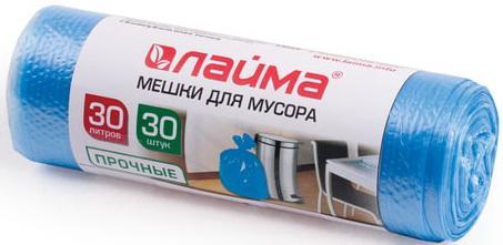 Фото - Мешки для мусора 30 л, синие, в рулоне 30 шт., ПНД, 10 мкм, 50х60 см (±5%), прочные, ЛАЙМА, 601378 мешки для раздельного сбора мусора 60 л зеленые в рулоне 20 шт пнд 10 мкм 58х68 см laima 606704 3835