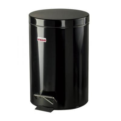 Фото - Ведро-контейнер для мусора (урна) с педалью ЛАЙМА Classic, 12 л, черное, глянцевое, металл, со съемным внутренним ведром, 602850 урна для мусора лайма настольная с качающейся крышкой нержавеющая сталь матовая 601618