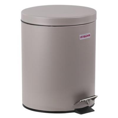 Фото - Ведро-контейнер для мусора (урна) с педалью ЛАЙМА Classic, 12 л, серое, матовое, металл, со съемным внутренним ведром, 604944 урна для мусора лайма настольная с качающейся крышкой нержавеющая сталь матовая 601618