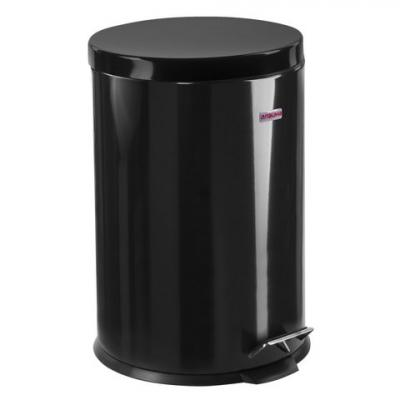 Ведро-контейнер для мусора (урна) с педалью ЛАЙМА Classic, 20 л, черное, глянцевое, металл, со съемным внутренним ведром, 604945 ghibli стационарный пылесос briciolo для парикмахерской с ведром для мусора