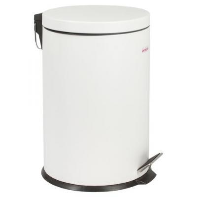 Ведро-контейнер для мусора (урна) с педалью ЛАЙМА Classic, 20 л, белое, глянцевое, металл, со съемным внутренним ведром, 604949 урна для мусора primanova yakut 18 18 25 см