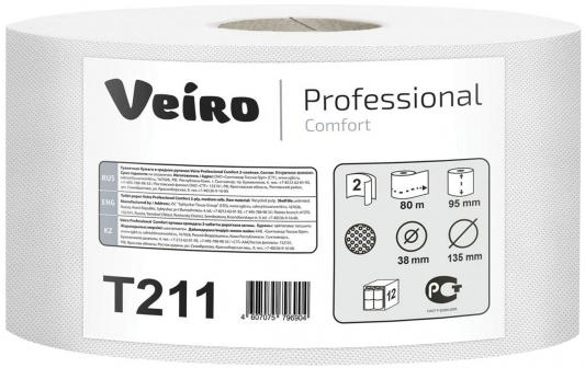 Бумага туалетная VEIRO PROFESSIONAL T211 2-ух слойная 12 шт