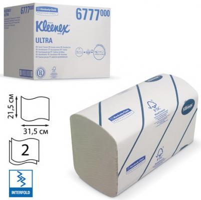 Полотенца бумажные 124 шт., KIMBERLY-CLARK Kleenex, комплект 30 шт., Ultra, 2-сл., бел., 31,5х21,5 см, Interfold, 601533-534, 6777 sits стул clark