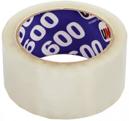 Клейкая лента Unibob 600 48мм x 66 м прозрачная, 45 мкм клейкая лента упаковочная unibob 600 белая 48ммх66м 45мкм