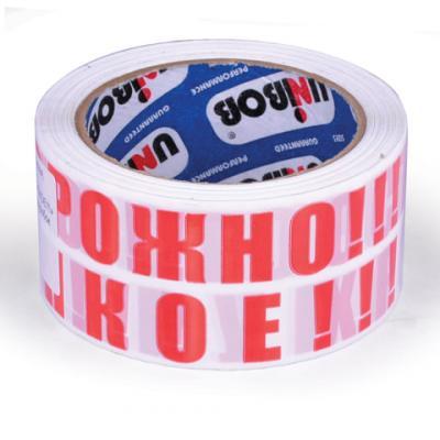 """Клейкая лента Unibob """"ОСТОРОЖНО!!! ХРУПКОЕ!!!"""" 50мм x 66 м цена и фото"""