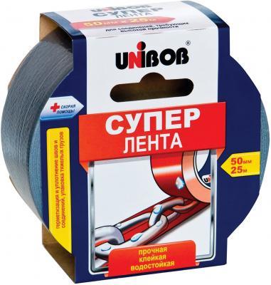 Клейкая лента Unibob Супер 44265 50мм x 25 м армированная, универсальная, основа-полиэстер лента армированная fit универсальная цвет синий 48 мм х 10 м
