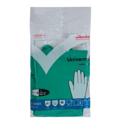 Перчатки хозяйственные нитриловые VILEDA, универсальные, антиаллергенные, размер L (большой), зеленые, 100802 стоимость