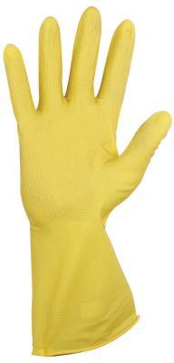 Перчатки хозяйственные резиновые YORK, суперплотные, с х/б напылением, рифленая ладонь, размер L (большой), 92010 стоимость