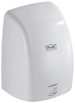 Сушилка для рук PUFF-8815, высокоскоростная, 1000 Вт, время сушки 7 секунд, пластик, белая, 1401,375