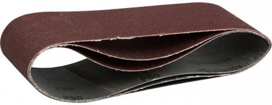 Лента шлифовальная бесконечная ЗУБР МАСТЕР на тканевой основе, для ЛШМ, P80, 75х457мм, 3шт лента бесконечная вихрь 75х533 16н p80 3шт