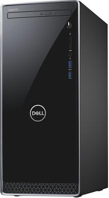 ПК Dell Inspiron 3670 MT i7 8700 (3.2)/8Gb/1Tb 7.2k/SSD128Gb/GTX1050Ti 4Gb/DVDRW/Linux/GbitEth/WiFi/BT/290W/клавиатура/мышь/черный