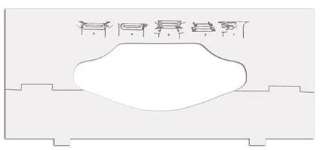 Вставки в диспенсеры для листовых полотенец TORK, разной ширины, 202829