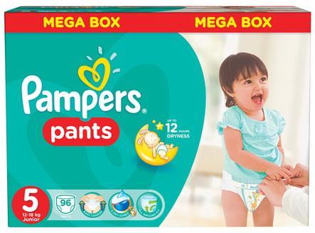 Купить Подгузники-трусики КОМПЛЕКТ 96 шт. PAMPERS (Памперс) Active Baby Pants, размер 5 (12-18 кг), дышащие, Подгузники и трусики подгузники