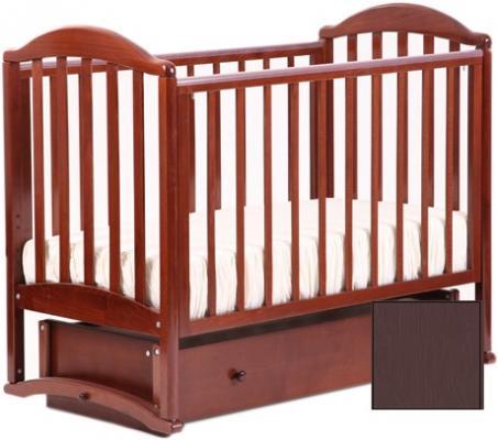 990372194 Кроватка с маятником Лель Лилия АБ17 (махагон)