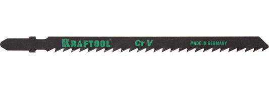 Полотна KRAFTOOL, T344D, для эл/лобзика, Cr-V, по дереву, ДВП, ДСП, быстрый рез, EU-хвост., шаг 4мм, 110мм, 2шт все цены