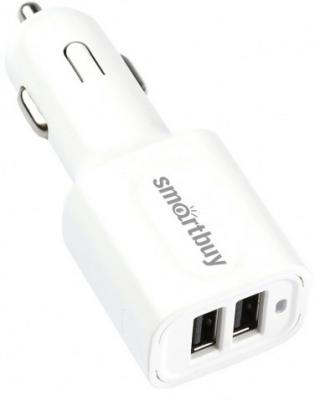 Автомобильное зарядное устройство Smart Buy Turbo 2 х USB 3 А белый SBP-2032