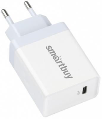 Сетевое зарядное устройство Smart Buy SBP-1018C 3 А белый автомобильное зарядное устройство smart buy turbo pd usb usb c 3 2 4 a черный sbp 2033c
