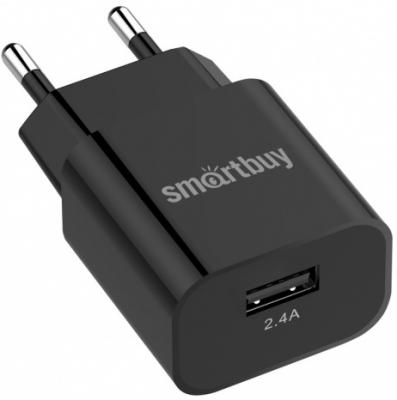 Сетевое зарядное устройство Smart Buy SBP-1025 2.4А черный автомобильное зарядное устройство smart buy turbo pd usb usb c 3 2 4 a черный sbp 2033c