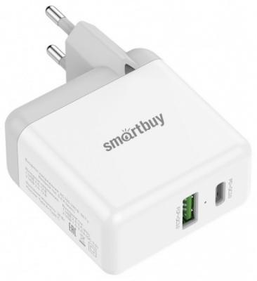 Сетевое зарядное устройство Smart Buy SBP-2024C 3 А белый автомобильное зарядное устройство smart buy turbo pd usb usb c 3 2 4 a черный sbp 2033c