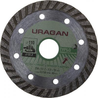 Фото - Круг отрезной алмазный URAGAN ТУРБО, для УШМ, 110х22,2мм круг алмазный uragan 909 12151 150