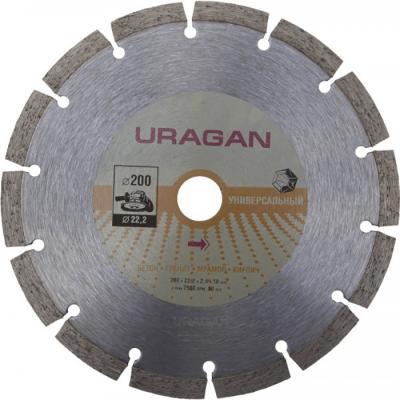 Фото - Круг отрезной алмазный URAGAN сегментный, для УШМ, 200х22,2мм круг алмазный uragan 909 12151 150
