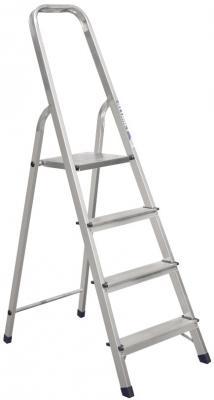СТРЕМЯНКА АЛЮМИНИЕВАЯ 4 СТУПЕНИ (1) АЛЮМЕТ лестница стремянка fit алюминиевая 4 ступени 65342