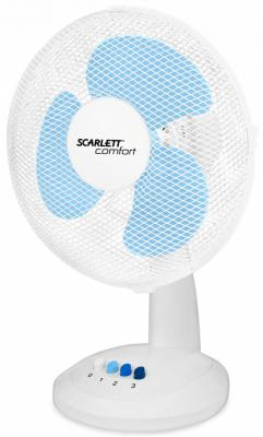 Вентилятор настольный Scarlett SC-DF111S07 38 Вт белый вентилятор scarlett sc 371 белый