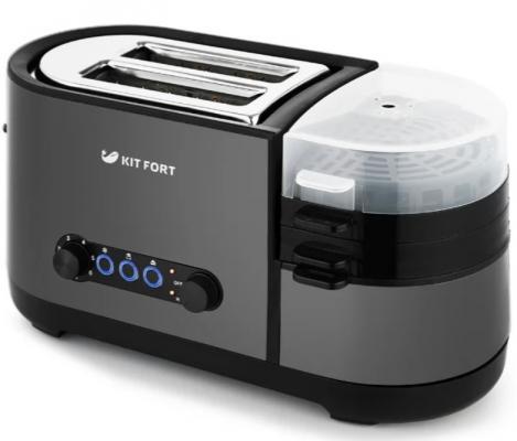 Тостер Kitfort КТ-2012-4 1300Вт графит цены онлайн