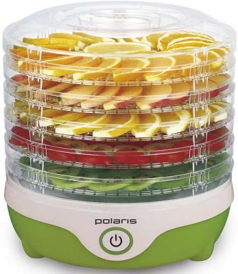 Сушка для фруктов и овощей Polaris PFD 0305 5под. 300Вт зеленый сушилка polaris pfd 0305