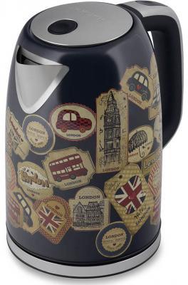 купить Чайник электрический Polaris PWK 1730CA 2200 Вт рисунок 1.7 л нержавеющая сталь по цене 2850 рублей
