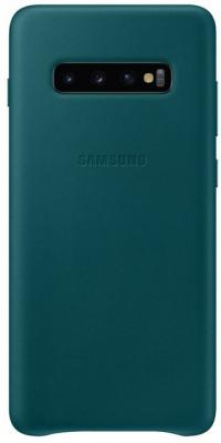 Чехол (клип-кейс) Samsung для Samsung Galaxy S10+ Leather Cover зеленый (EF-VG975LGEGRU) чехол клип кейс samsung для samsung galaxy s10 leather cover белый ef vg975lwegru