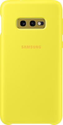 Чехол (клип-кейс) Samsung для Samsung Galaxy S10e Silicone Cover желтый (EF-PG970TYEGRU)