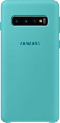 Чехол (клип-кейс) Samsung для Samsung Galaxy S10 Silicone Cover зеленый (EF-PG973TGEGRU) цена и фото