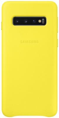 Чехол (клип-кейс) Samsung для Samsung Galaxy S10 Leather Cover желтый (EF-VG973LYEGRU) чехол клип кейс samsung для samsung galaxy s10 leather cover белый ef vg975lwegru