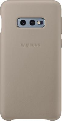 Чехол (клип-кейс) Samsung для Samsung Galaxy S10e Leather Cover серый (EF-VG970LJEGRU) цена и фото