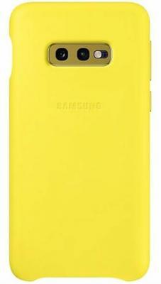 Чехол (клип-кейс) Samsung для Samsung Galaxy S10e Leather Cover желтый (EF-VG970LYEGRU) клип кейс samsung dual layer ef pj330 для galaxy j3 2017 голубой