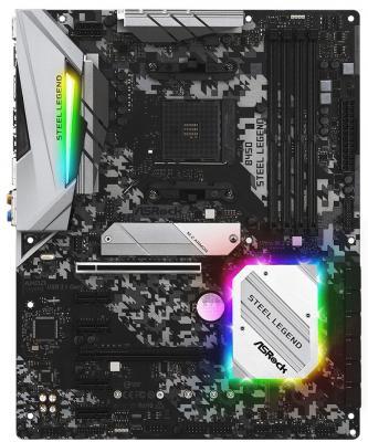Материнская плата ASRock B450 STEEL LEGEND Socket AM4 AMD 4xDDR4 2xPCI-E 16x 4xPCI-E 1x 6 ATX Retail