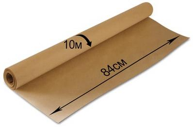 Фото - Крафт-бумага в рулоне, 840 мм х 10 м, плотность 78 г/м2, BRAUBERG, 440145 канцелярия апплика бумага масштабно координатная в рулоне 878 мм х 40 м