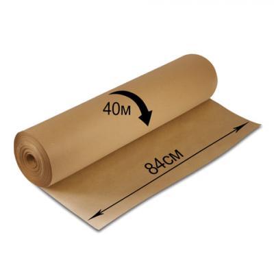 Фото - Крафт-бумага в рулоне, 840 мм х 40 м, плотность 78 г/м2, BRAUBERG, 440146 канцелярия апплика бумага масштабно координатная в рулоне 878 мм х 40 м