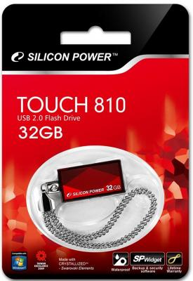 Внешний накопитель 32GB USB Drive <USB 2.0> Silicon Power Touch 810 Red SP032GBUF2810V1R