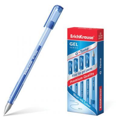 Ручка гелевая гелевая Erich Krause G-Tone синий 0.4 мм erich krause ручка гелевая g tone 12 шт erich krause